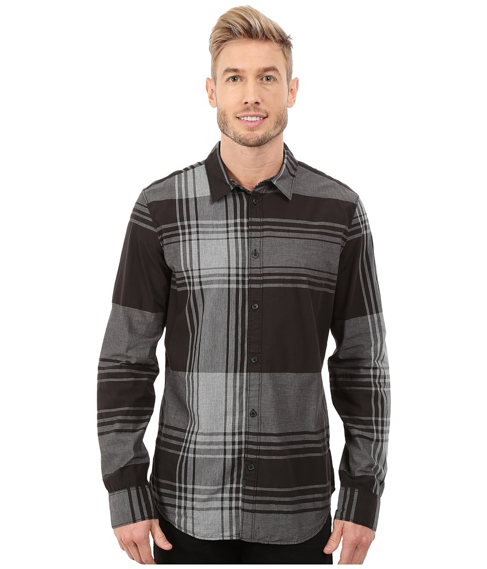 Calvin Klein Jeans - Super Exploded Plaid Shirt (Black) Men's Clothing