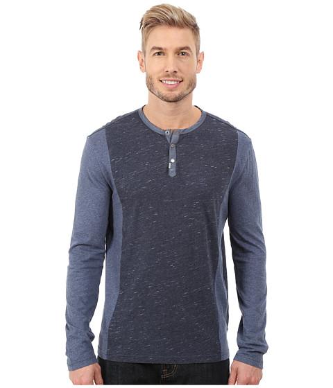 Calvin Klein Jeans - L/S Henley Color Blocked (Blue Cap Heather) Men