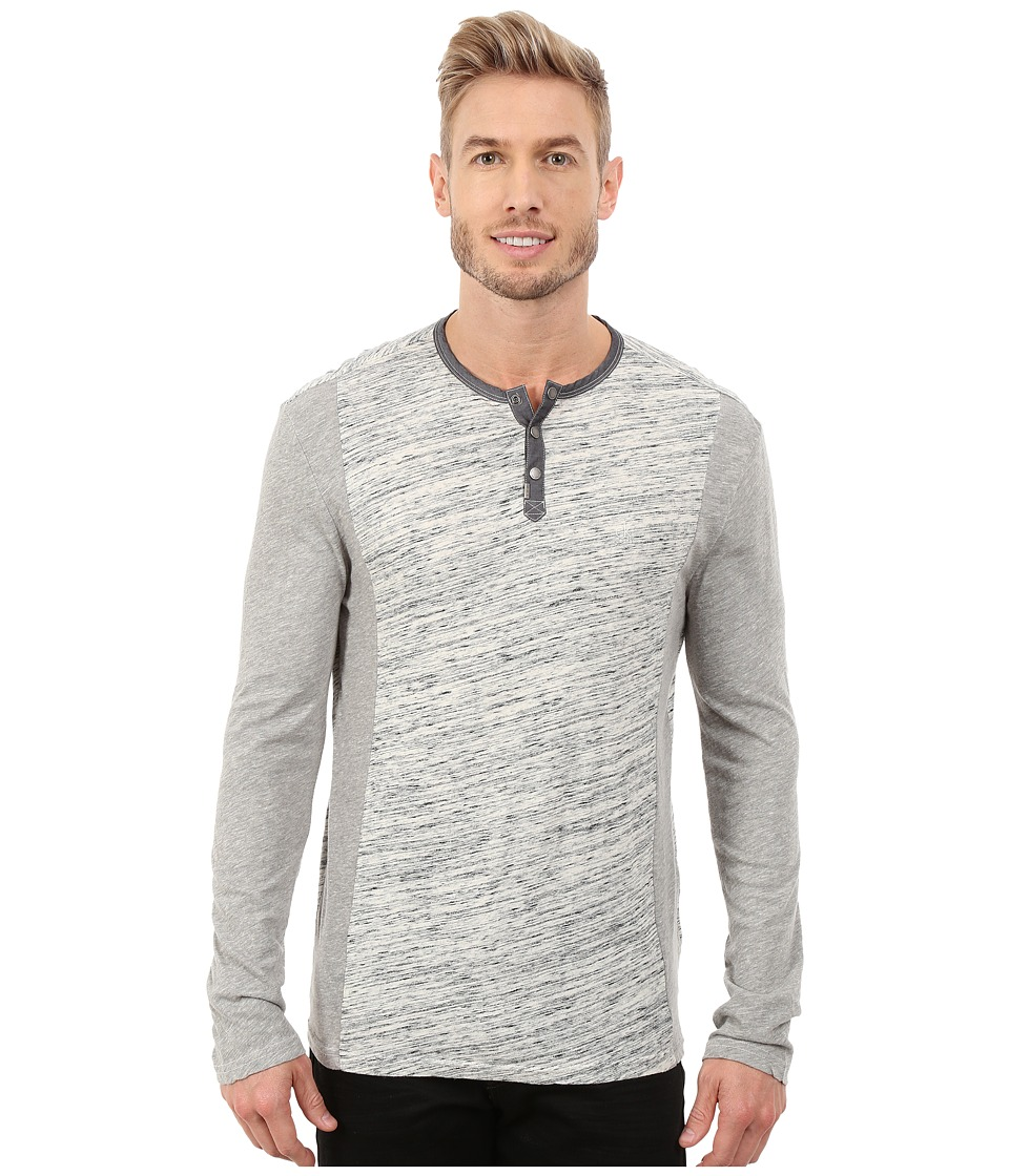 Calvin Klein Jeans - L/S Henley Color Blocked (Streak Heather) Men's Long Sleeve Pullover
