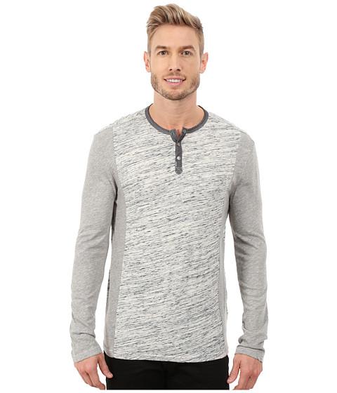 Calvin Klein Jeans - L/S Henley Color Blocked (Streak Heather) Men's Long Sleeve Pullover