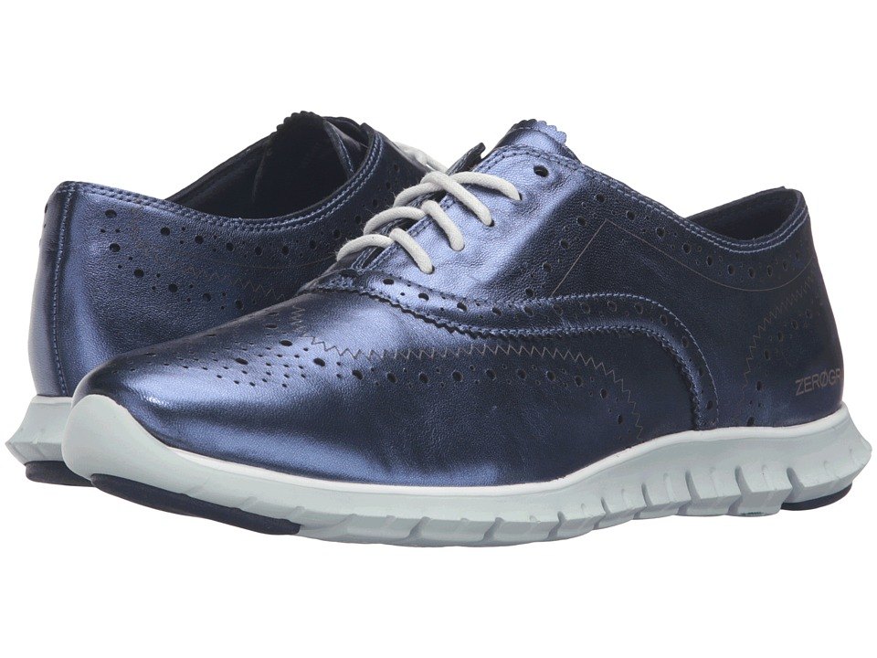 Cole Haan - Zerogrand Wing Oxford (Blazer Blue Metallic) Women's Shoes