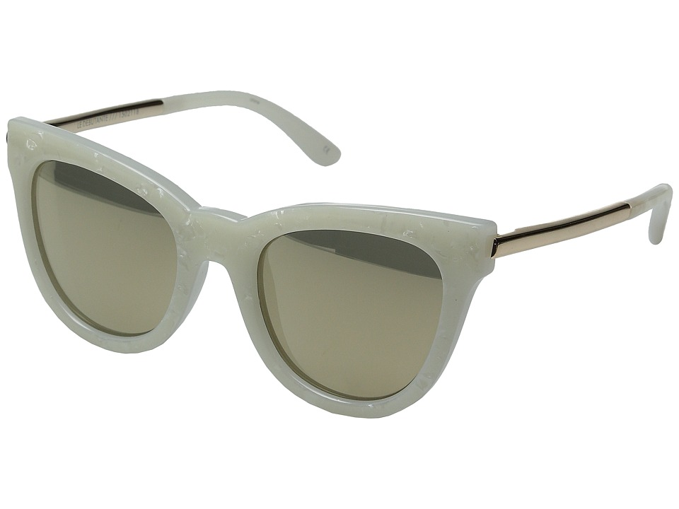 Le Specs - Le Debutante (White Marble) Fashion Sunglasses