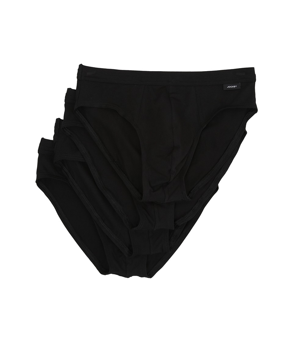Jockey - Cotton Stretch Low Rise Bikini (Black) Men's Underwear