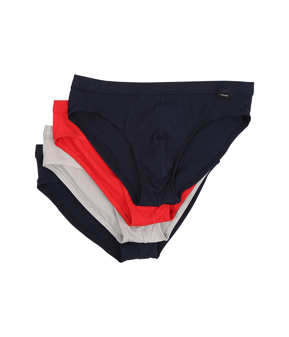 Jockey - Cotton Stretch Low Rise Bikini (Navy/Red/Grey Assort) Men's Underwear