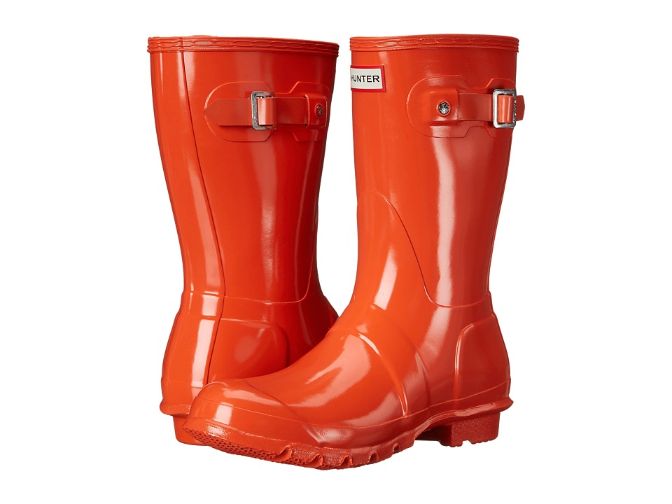 Hunter - Original Short Gloss (Tent Red) Women's Rain Boots