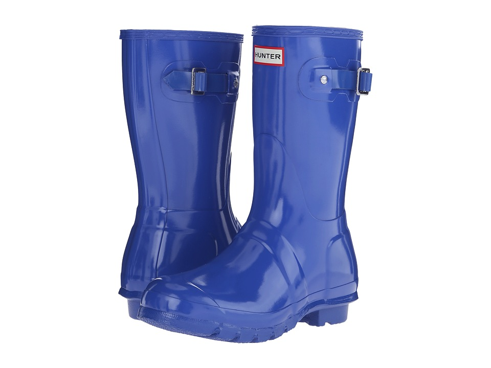 Hunter - Original Short Gloss (Bright Cobalt) Women's Rain Boots
