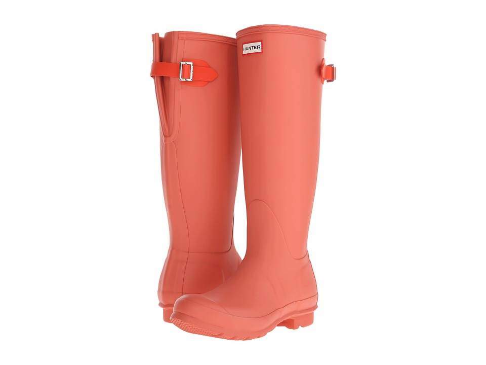 Hunter - Original Back Adjustable (Sunset/Tent Red) Women's Rain Boots