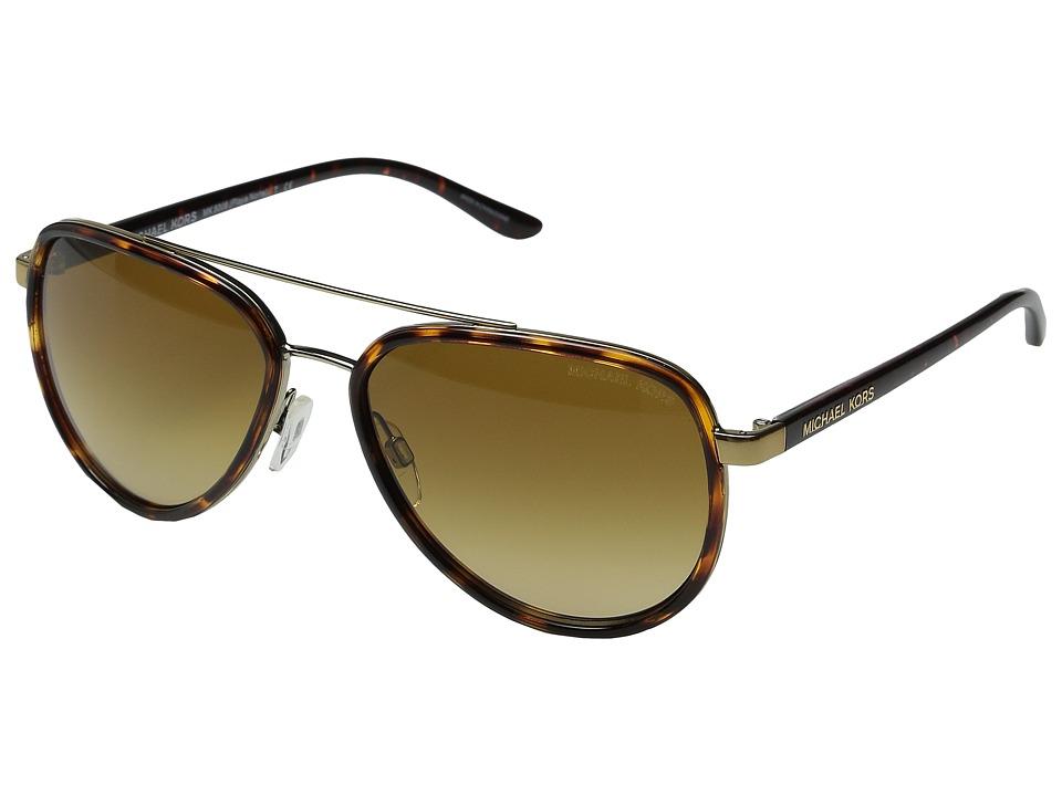 Michael Kors Playa Norte (Tortoise/Gold) Fashion Sunglasses