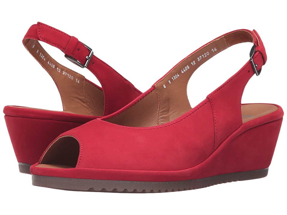 ara - Colleen (Red Nubuck) Women's Sling Back Shoes