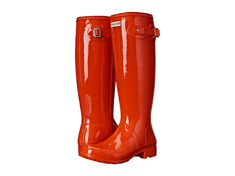 Hunter - Original Tour Gloss (Tent Red) Women's Rain Boots