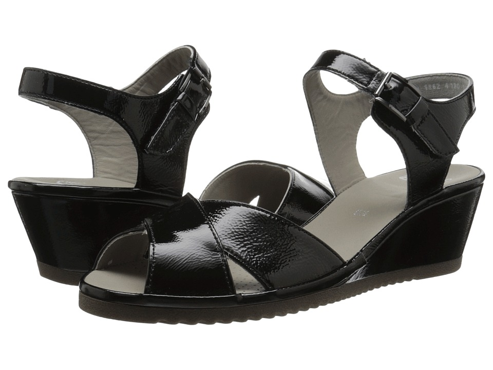 ara - Cadence (Black Patent) Women's Sandals