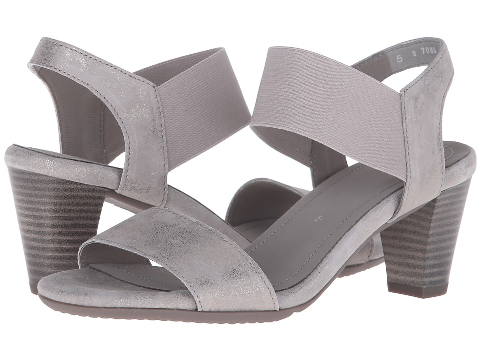 ara - Ronda (Grey Metallic Suede/Elastic) Women's Sandals