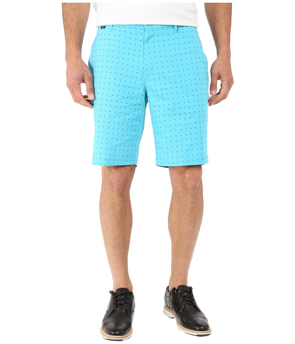 Nike Golf - Modern Fit Print Shorts (Omega Blue/Vivid Orange/Dark Grey/Wolf Grey) Men's Shorts