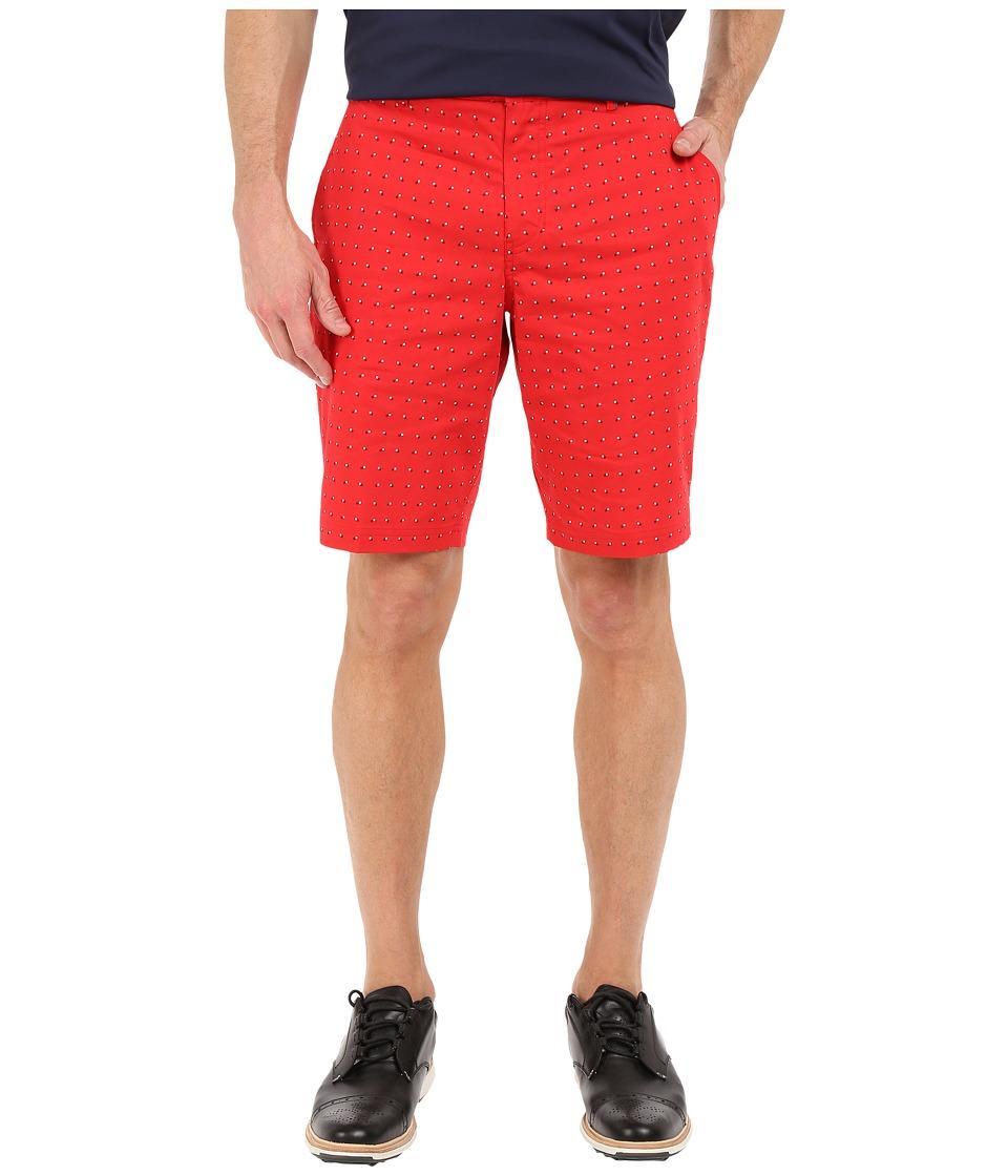 Nike Golf - Modern Fit Print Shorts (University Red/White/Midnight Navy/Wolf Grey) Men's Shorts