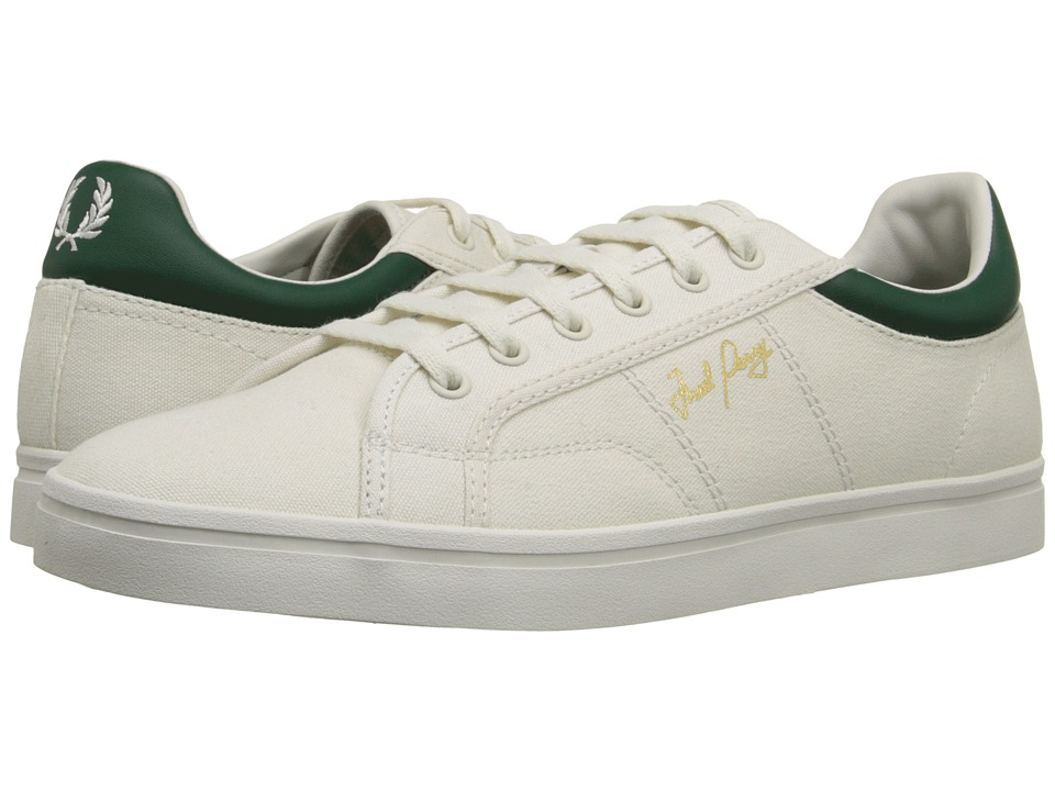 Fred Perry - Sidespin Canvas (Porcelain/Ivy) Men's Lace up casual Shoes