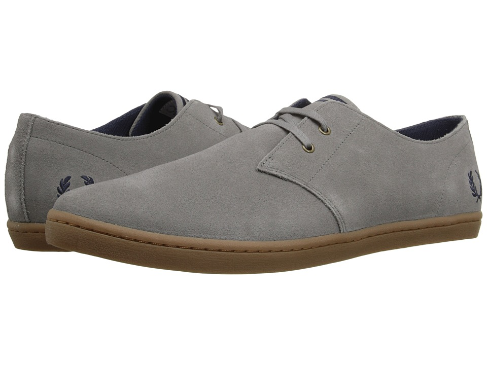 Fred Perry - Byron Low Suede (Falcon Grey/Carbon Blue) Men's Shoes