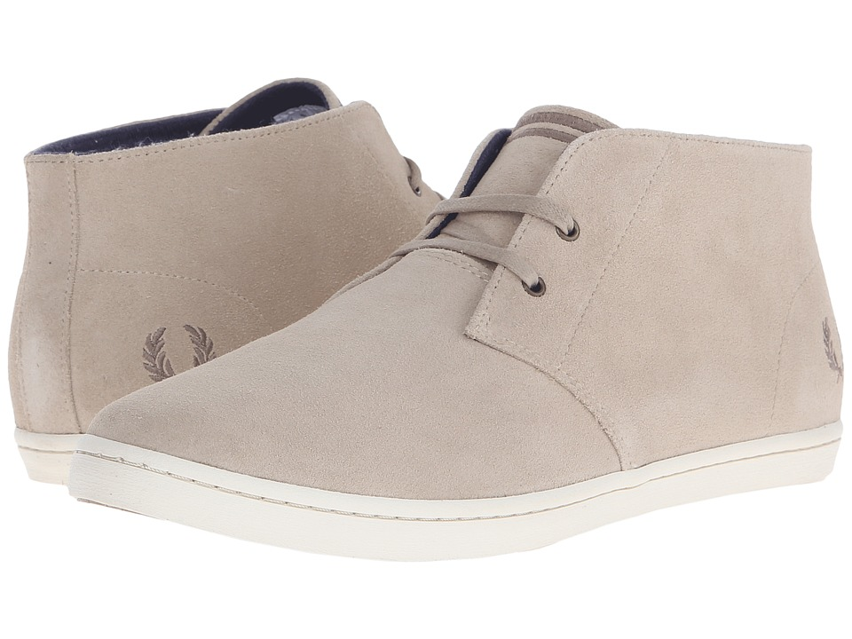 Fred Perry - Byron Mid Suede (Sand/Dirftwood) Men's Lace up casual Shoes