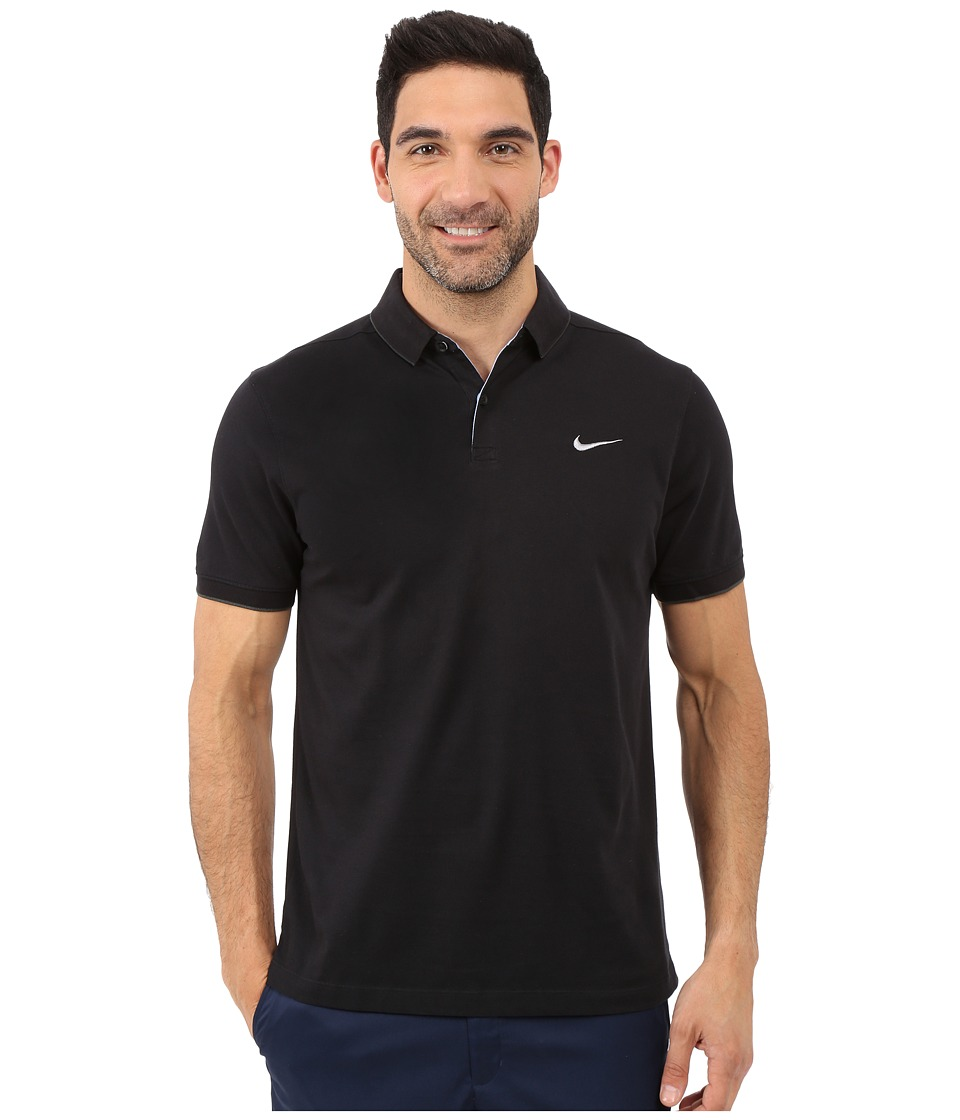 Nike Golf - Transition Washed Polo (Black/Anthracite/Anthracite/Flt Silver) Men's Short Sleeve Knit