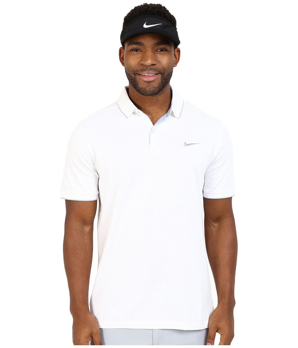 Nike Golf - Transition Washed Polo (White/Wolf Grey/Wolf Grey/Flt Silver) Men's Short Sleeve Knit