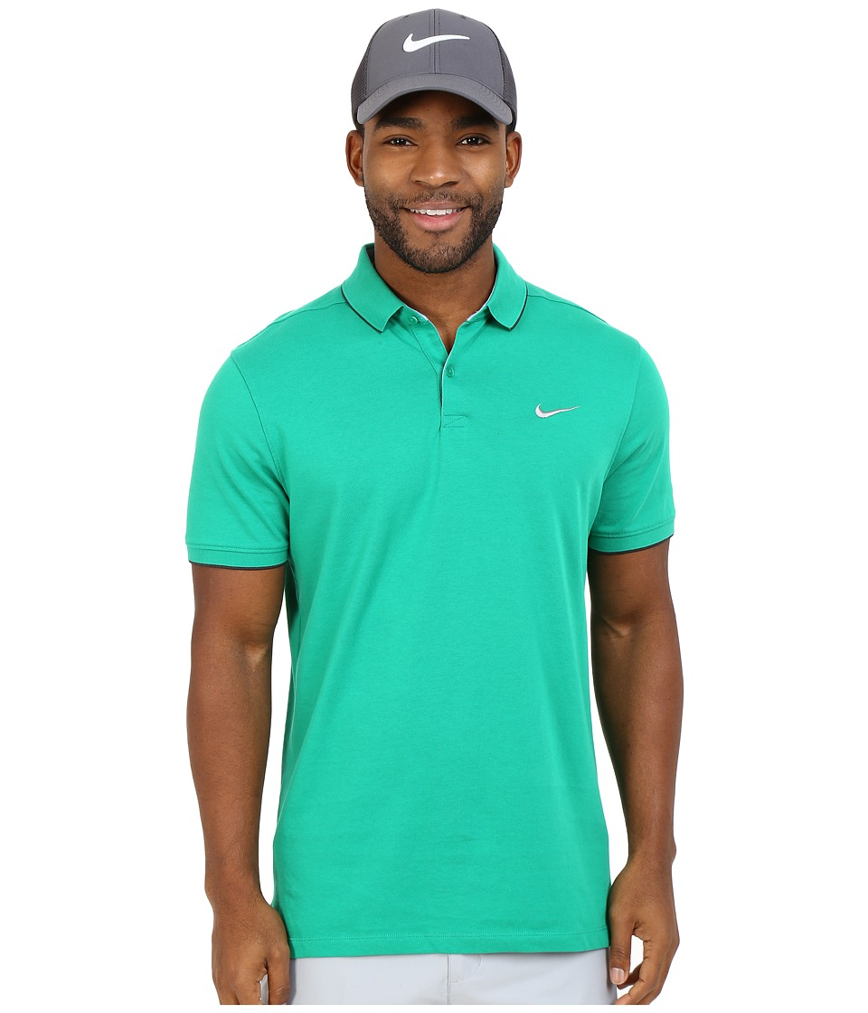 Nike Golf - Transition Washed Polo (Lucid Green/Anthracite/Anthracite/Flt Silver) Men's Short Sleeve Knit
