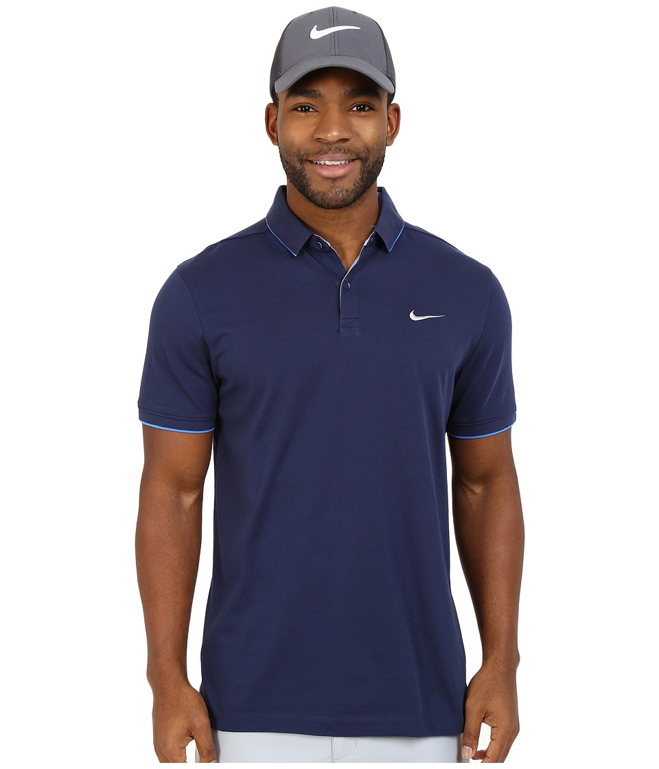 Nike Golf - Transition Washed Polo (Midnight Navy/Light Photo Blue/Light Photo Blue/Flt Silver) Men's Short Sleeve Knit