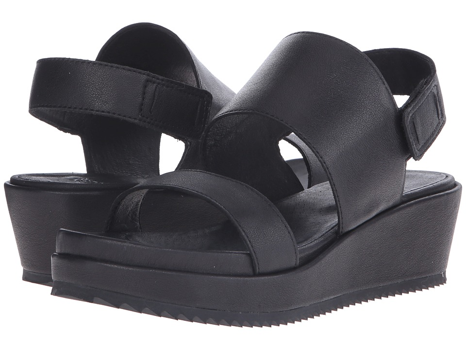Eileen Fisher - Rich (Black Leather) Women's Sandals