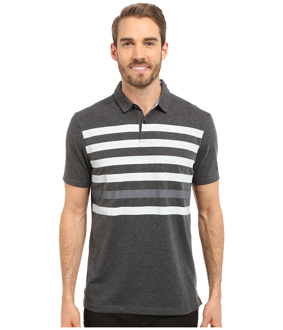 Nike Golf - Transition Stripe Polo (Black/White/Cool Grey/Flt Silver) Men's Short Sleeve Pullover