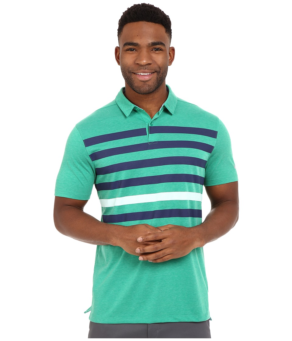 Nike Golf - Transition Stripe Polo (Lucid Green/Midnight Navy/White/Flt Silver) Men's Short Sleeve Pullover