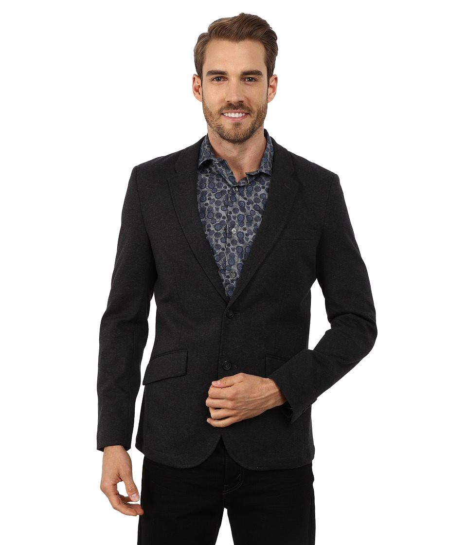 Perry Ellis - Slim Fit Ponte Knit Jacket (Black) Men's Coat