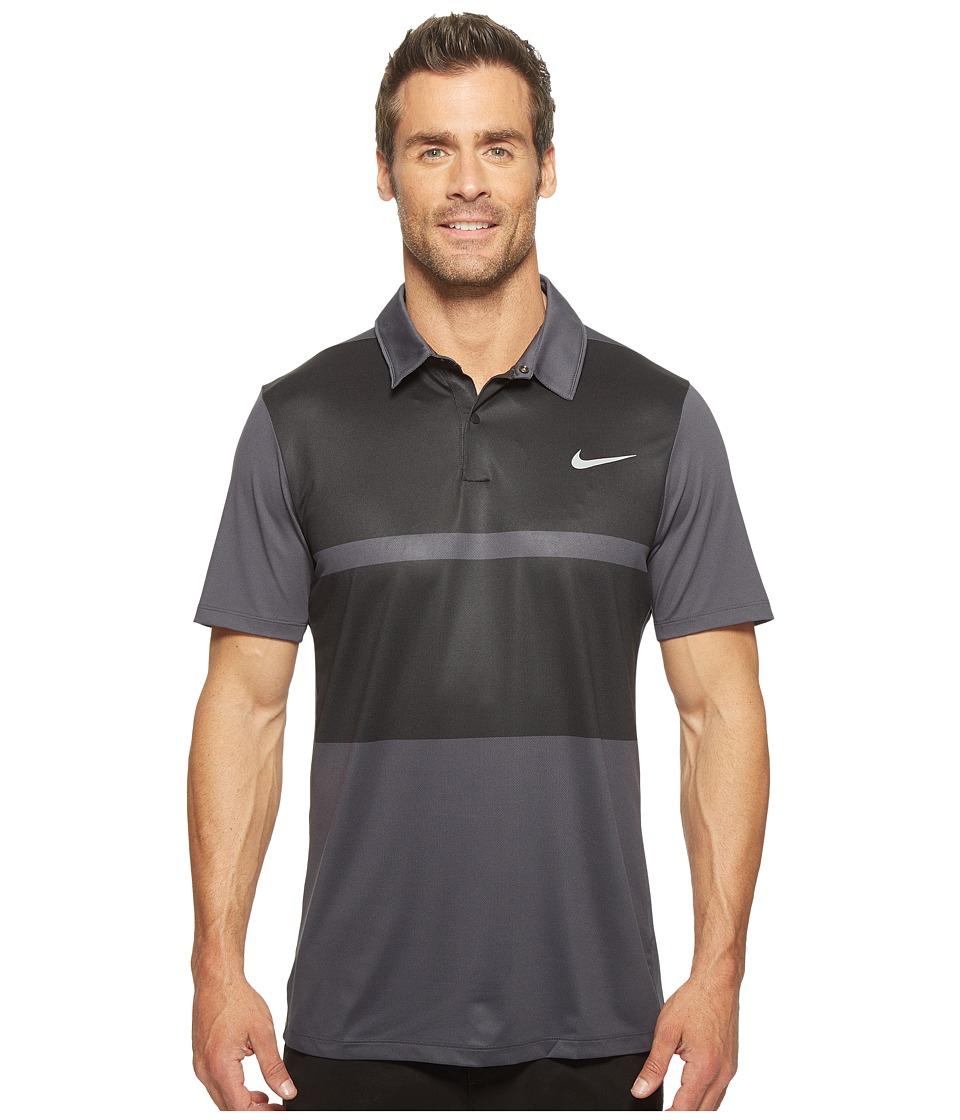Nike - Momentum Framing Color Block (Anthracite/Black/Black/Flt Silver) Men's Short Sleeve Pullover