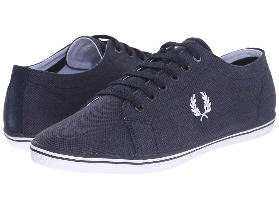 Fred Perry - Kingston Heavy Two-Tone Canvas (Navy/White) Men's Lace up casual Shoes