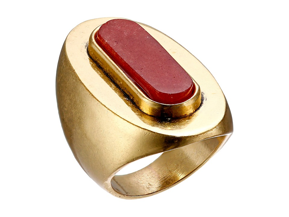 Lucky Brand - Red Statement Ring (Gold) Ring