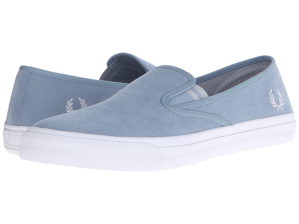 Fred Perry - Turner Slip-On Brushed Cotton (Sub Blue/Dolphin) Men's Slip on Shoes