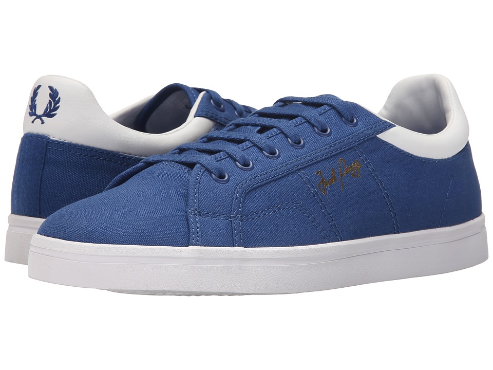 Fred Perry - Sidespin Canvas (1964 Royal/White) Men's Lace up casual Shoes