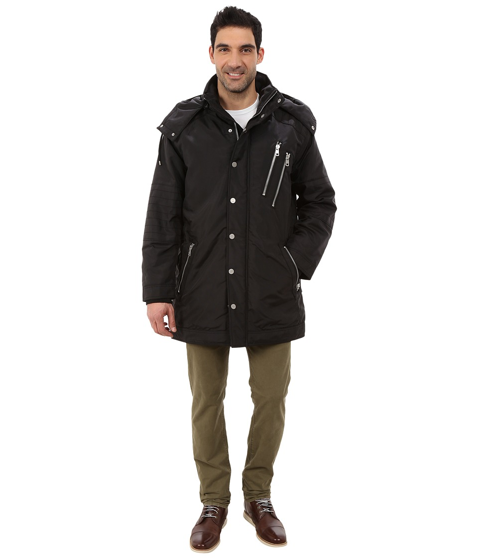 DKNY Jeans - Nylon Oxford Oversized Parka w/ Capsule (Black) Men