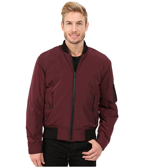 DKNY Jeans - Memory Twill MA1 Bomber Jacket (Ruby) Men's Coat