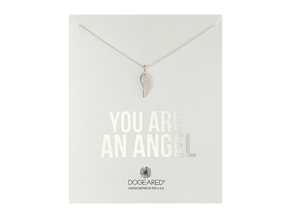 Dogeared - You Are an Angel Single Wing Necklace (Sterling Silver) Necklace