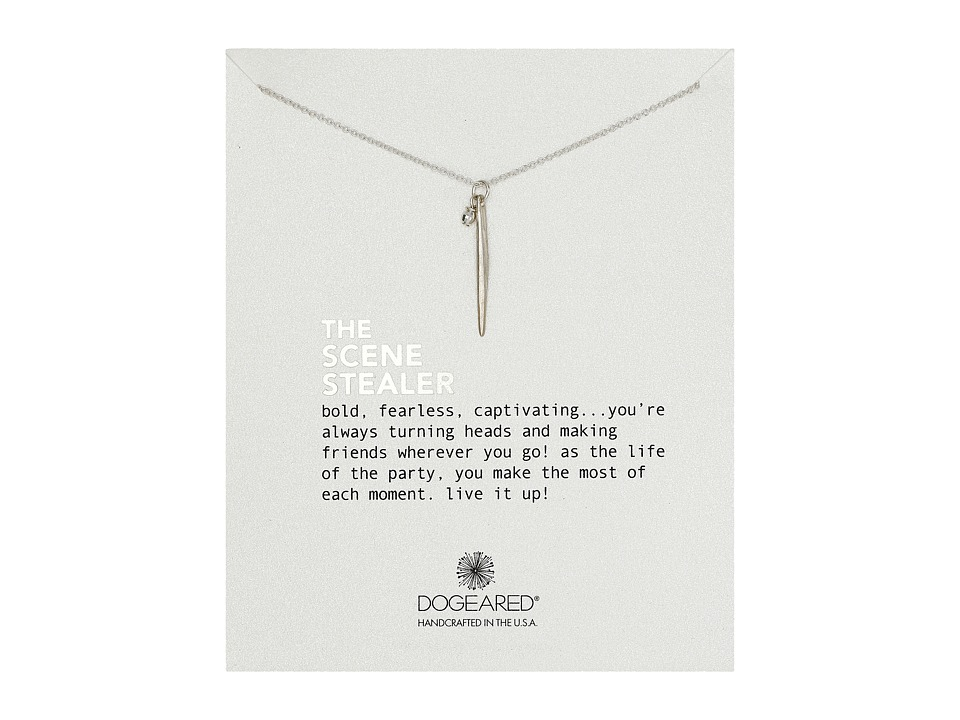 Dogeared - The Scene Stealer Spear and Bead Necklace (Sterling Silver) Necklace