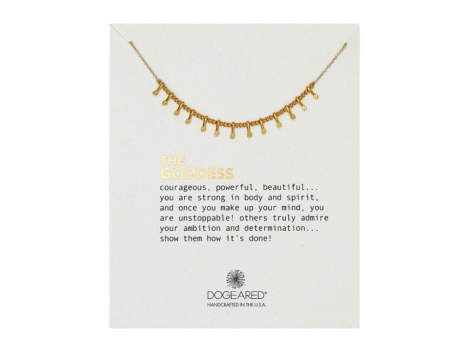 Dogeared - The Goddess Centered Petal Necklace (Gold Dipped) Necklace