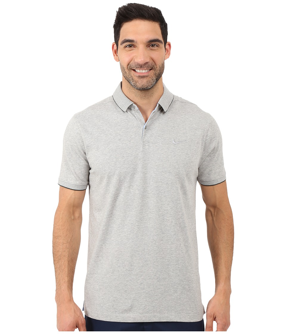 Nike Golf - Transition Washed Polo (Dark Grey Heather/Anthracite/Anthracite/Flt Silver) Men's Short Sleeve Knit