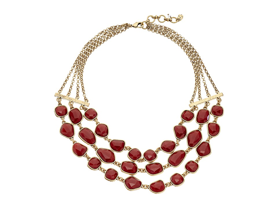Lucky Brand - Red Collar Necklace (Gold) Necklace