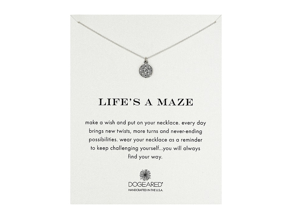 Dogeared - Life's a Maze Reminder Necklace (Sterling Silver) Necklace