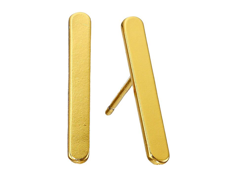 gorjana - Asher Studs Earrings (Gold) Earring