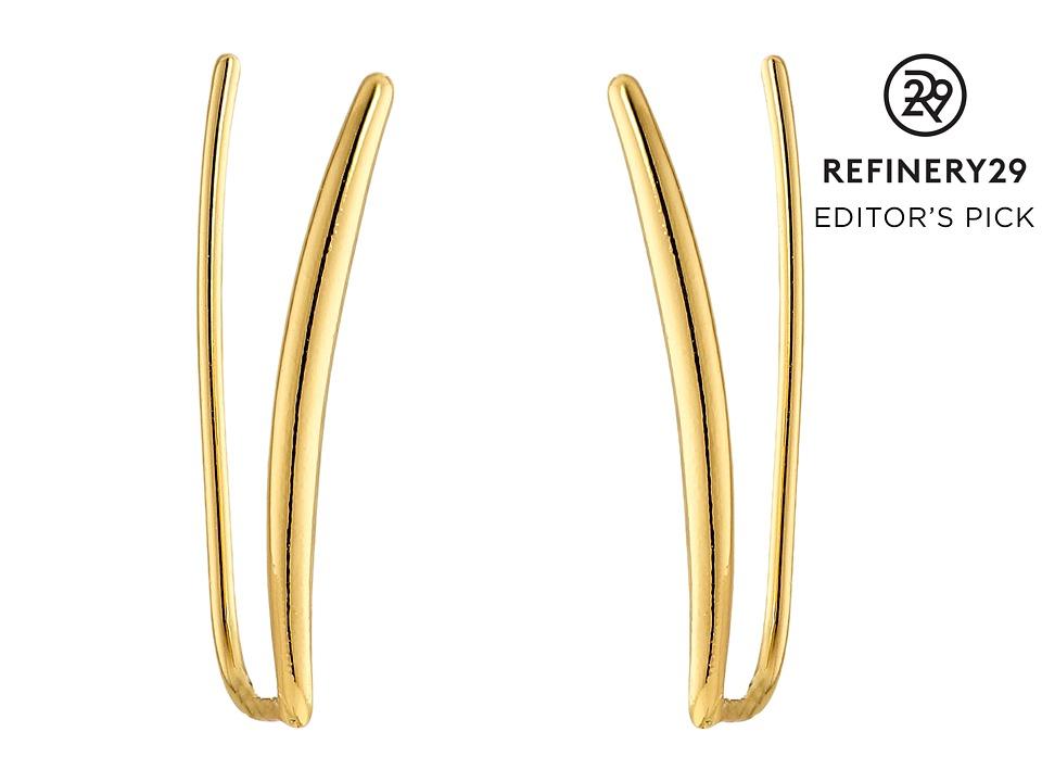 gorjana - Bali Tube Ear Climber Earrings (Gold) Earring
