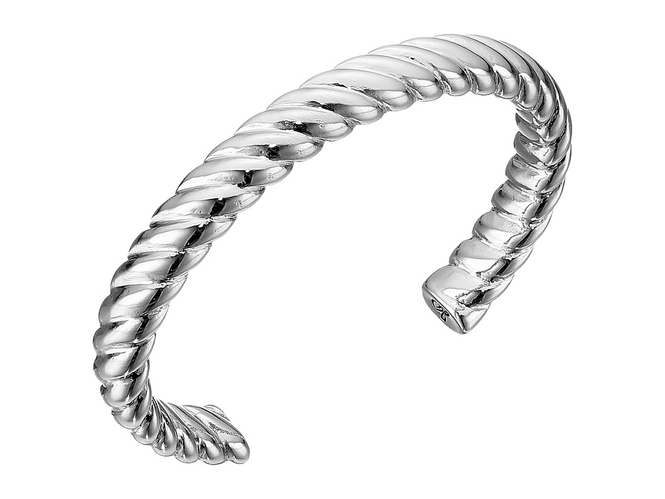 Sam Edelman - Twisted Rope Cuff Bracelet (Rhodium) Bracelet
