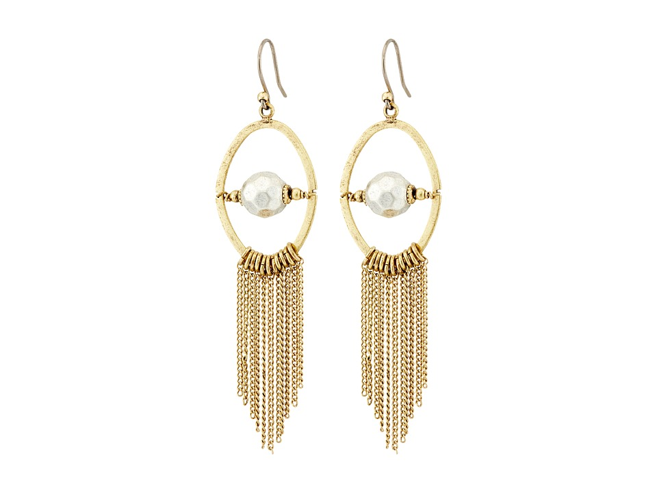 Lucky Brand - Fringe Earrings (Two-Tone) Earring