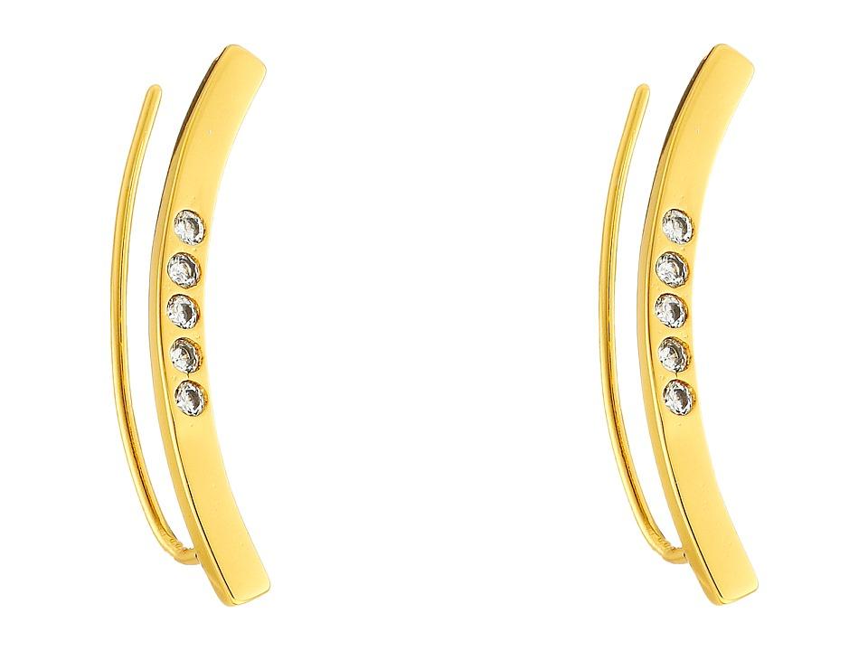 gorjana - Taner Bar Shimmer Ear Climbers Earrings (Gold) Earring