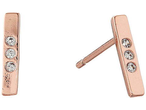 gorjana - Taner Bar Shimmer Mini Studs Earrings (Rose Gold) Earring