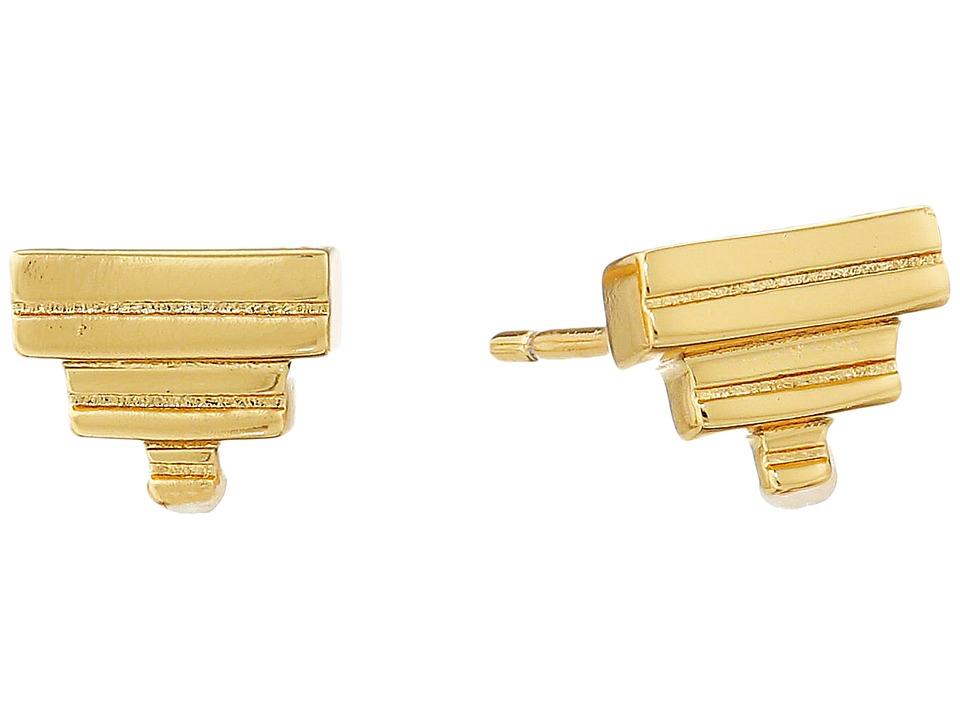 gorjana - Peytin Studs Earrings (Gold) Earring