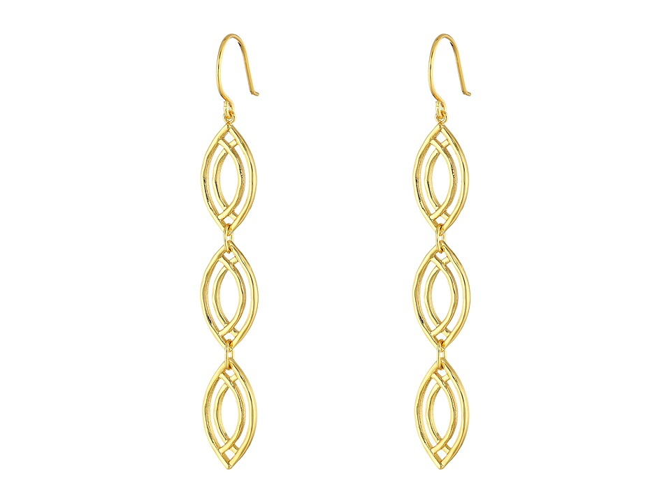 gorjana - Mesa Wave Drop Earrings (Gold) Earring